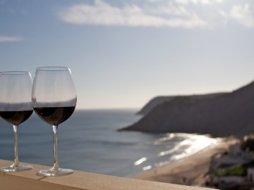 Apartment View with Wine